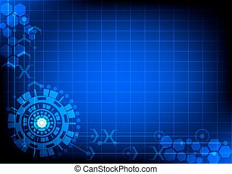 vector interface technology, abstract background