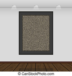 Vector interior gallery with space for your picture or photo