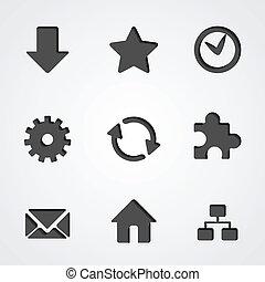 Vector internet icon collection