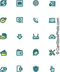 Vector internet service provider icon set