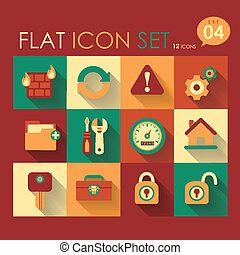 vector internet & web icon set flat design