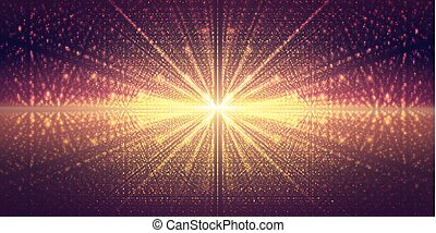Vector interstellar space background. Cosmic galaxy ...