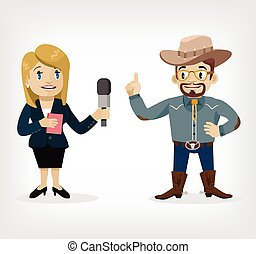 Vector interview flat illustration
