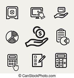 Vector investments money icon.