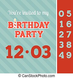 Vector invitation birthday party card template