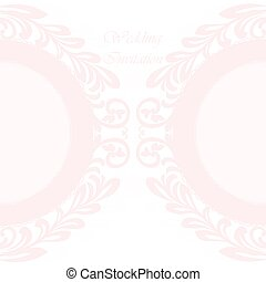 Vector invitation card ornamental lace