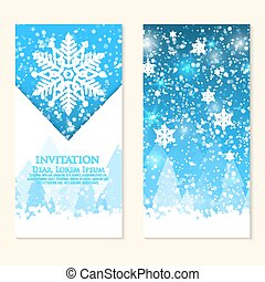 Watercolor snowflakes happy new year greeting card for your vector invitation card with snowflakes happy new year and merry christmas invitation card nice stopboris Choice Image