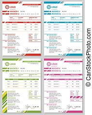Vector Invoice templates set