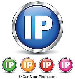 Vector ip address icons - Vector illustration of ip adress...