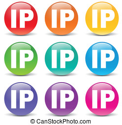 Vector ip address icons - Vector illustration of ip address...