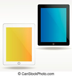 Vector ipads - two realistic vector ipads on white...