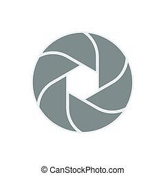 vector iris diaphragm camera shutter icon