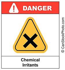 vector irritant sign