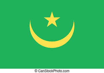 Mauritania flag - Vector Islamic Republic of Mauritania flag