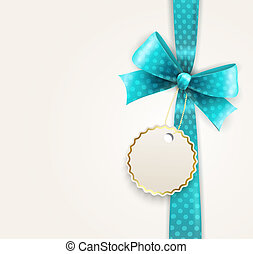 Vector isolated blue polka dots bow