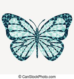 Vector isolated butterfly.