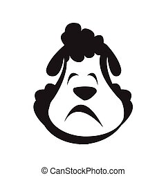 Vector. Isolated cartoon sheep head.