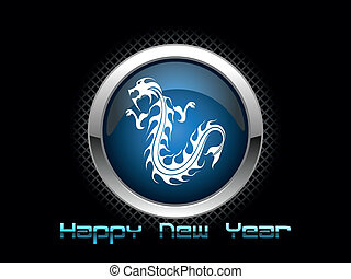 vector isolated dragon icon for 2012