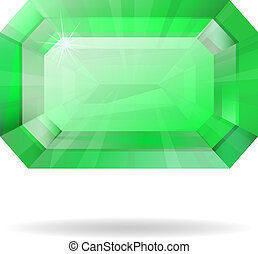 Vector isolated emerald