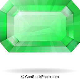 Vector isolated emerald