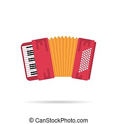 Isolated flat icon of the accordion