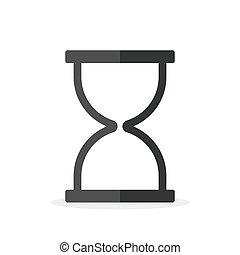 vector, isolated., icon., reloj de arena, icono, sandglass