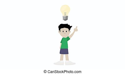 Boy having an Idea