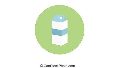Rounded Milk Box Icon