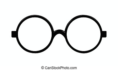 Vector Isolated Illustration of Rounded Glasses