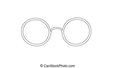 Vector Isolated Illustration of Rounded Glasses on a white background