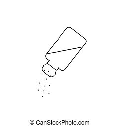 Vector isolated image of salt line icon on white background flat style