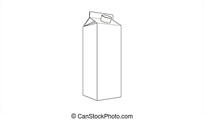 Vector isolated Milk or Juice Box Icon