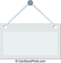 Vector isolated signboard on white background