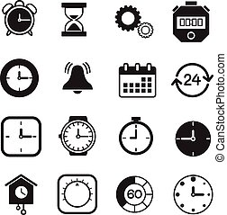Vector isolated timers icons