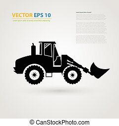 Vector isolated tractor icons. silhouettes.