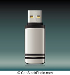 Vector isolated USB pen drive