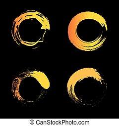 Vector isolated warm orange color logo. Unusual graphic hot design. Element emblem. Minimalist styled sun logo.