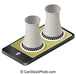 Vector isometric cooling system of nuclear power plant in mobile phone.