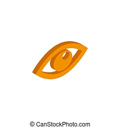 Vector isometric eye icon on a white background