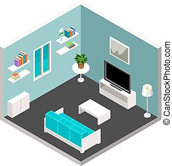 Vector isometric furniture