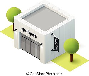 Vector isometric gadget shop - Vector isometric gadget store...