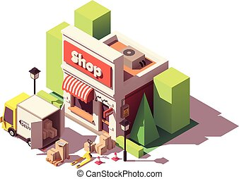 Vector isometric goods delivery icon
