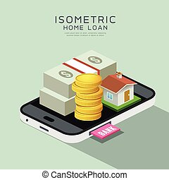 Vector Isometric home and money