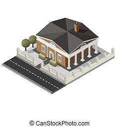 Vector isometric house