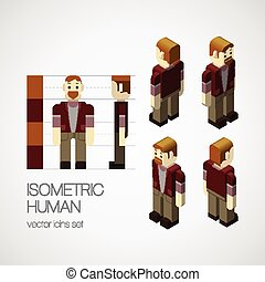 Vector isometric human set
