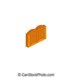 Vector isometric icon book on a white background