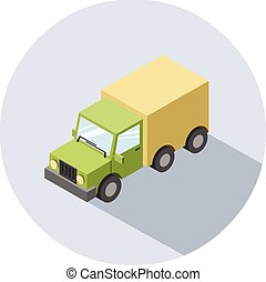 Vector isometric illustration of Truck.