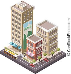 Vector Isometric industrial and business city