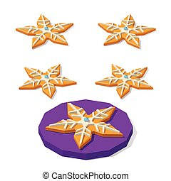Christmas cookie of star shape