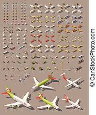 Vector isometric low poly transport set - Vector isometric ...